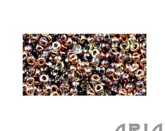 CRYSTAL COPPER RAINBOW (55020): 11/o Miyuki Hybrid Japanese Seed Beads (10 grams)
