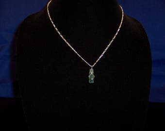 Lt. Blue Maine Tourmaline in Sterling Silver - Pendant