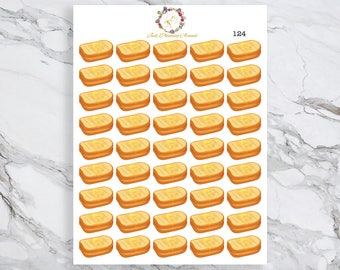 Grilled Cheese Stickers, Food Stickers, American Food Stickers, for use with  Erin Condren, Happy Planner