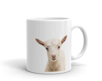 Baby Goat Mug, Cute Nursery Decor Animal Art Photograph Print Mug, Ceramic Mug, Coffee Tea Mug, Custom Mug Gift, Animal Mug, Baby Shower