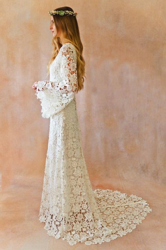 Crochet Vintage Lace Wedding Dress
