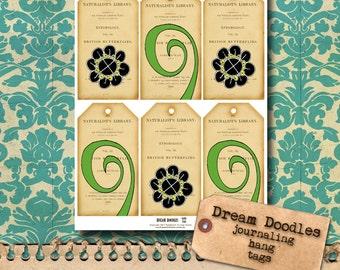 Doodle Hang Tags - printable journal add-on