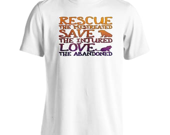 Rescue The Mistreated Dogs Cats Men's T-Shirt z981m