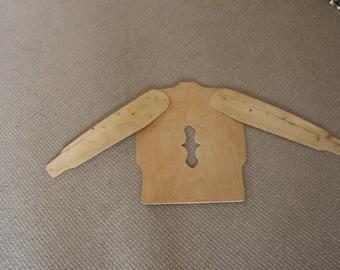 Handmade Scandinavian Wooden Sweater Stretcher Frame