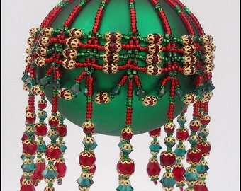 Pattern for Beaded Christmas Ornament cover- Sleigh Bells Ringing