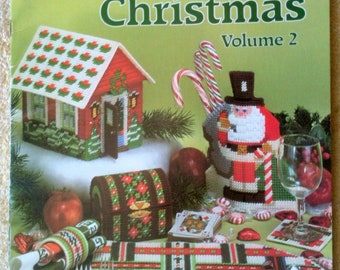 Vintage Plastic Canvas Christmas Vol 2 American School of Needlecraft Christmas Decoration Christmas Ornaments Christmas Cottage 1982