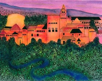 Alhambra Print: Alhambra, Granada, Spain