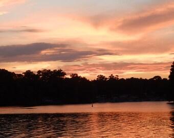 Sunset on the Lake Inspirational Wall Art