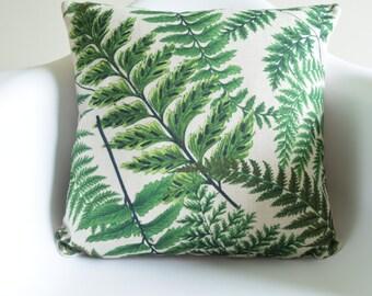 "Fresh Summer Green leaves Print Cotton Linen Cushion/Pillow Cover in 18 x 18"""