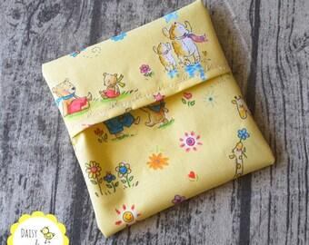 Mini Wet Bag / Pad Wrapper  - Cute Bears