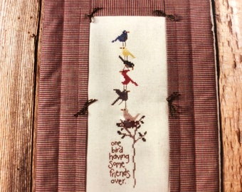 Bent Creek, One Bird, Having Some Friends Over, Counted, Cross Stitch Pattern