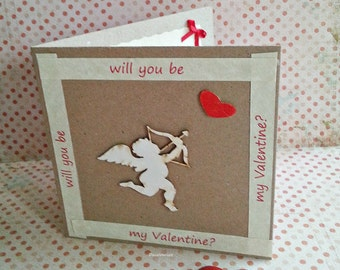 Valentine's Day card, rustic Valentine's Day card, Valentine's Day, Love card, will you be my Valentine card,  Amor card, Cupid card