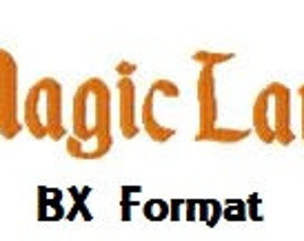 Buy 2, Get 1 Free, Magic Land Embroidery Font, Instant Download, BX format