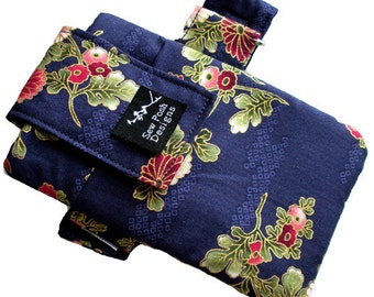 iPhone Galaxy Armband Arm Band Gadget Cell Phone Zipper Pocket Pouch Case Washable Japanese Oriental Sakura Fabric Waterproof Lining-Cherie