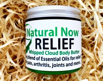 Relief Whipped Body Butter/100% Pure & Therapeutic Grade  Essential Oils/Back Pain/Arthritis/Joint Pain