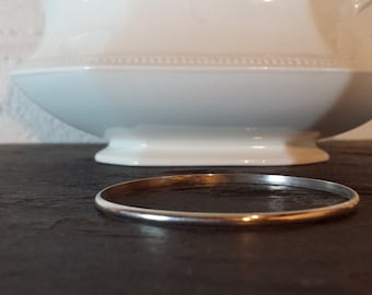 Simple Sterling Silver Bangle Bracelet