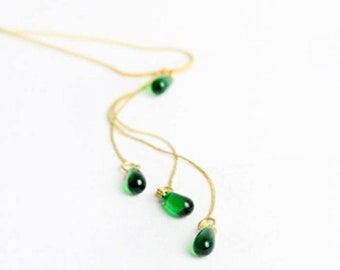 wedding necklace gifts for bridesmaids necklace green jewelry boho wedding emerald bridesmaids jewelry gifts green gold bridal necklace Y30