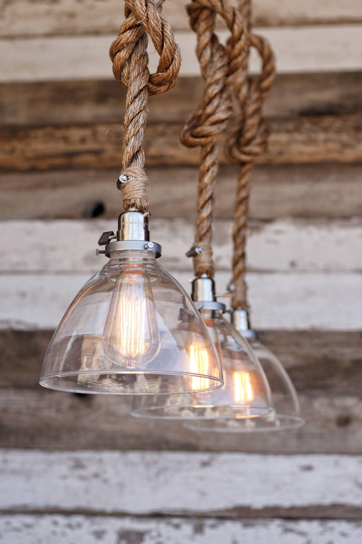 The Snow Pendant Light Industrial Rope Light Fixture