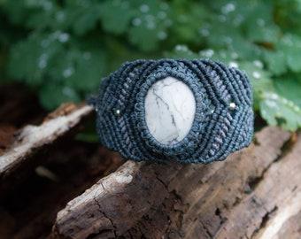 Macrame Howlite Gem Stone Bracelet