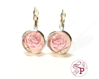 Leverback earrings | Flower earrings | Silver earrings | Rose earrings | Botanical jewelry | Flower jewelry | Gift for Her | Botanical Art