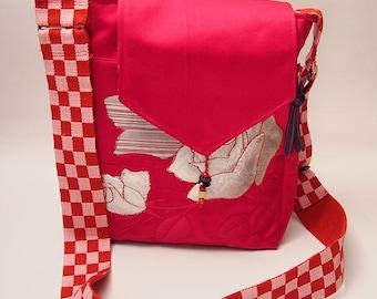 Japanese Rose Kimono Shoulder Bag