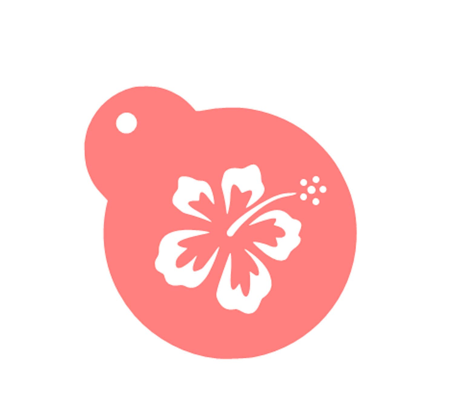Hawaiian flower cookie stencil hawaiian flower stencil hawaiian 299 izmirmasajfo Images