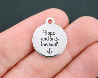 Hope Stainless Steel Charm - Hope Anchors the Soul - Exclusive Line - Quantity Options  - BFS661