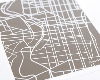 Philadelphia City Map Art Print / Pennsylvania Line Art Map Poster / Digital Print 8x10 / Any Color