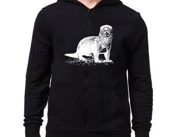 Otter sketch Zip Hoodie