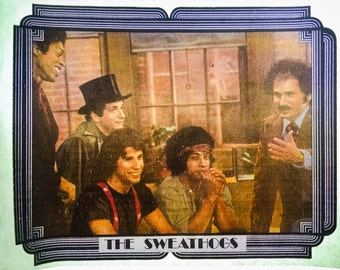 Welcome Back, Kotter The Sweathogs Vintage Iron On Heat Transfer