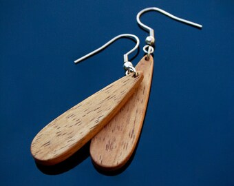 Tasmanian timber, blackwood earrings, wooden earrings, handmade earrings, wooden jewellery, handmade jewelry, handmade jewellery