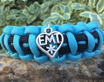 EMT Paracord Bracelet, EMT medical themed