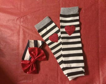 Custom Baby Leg Warmers Head Band sets