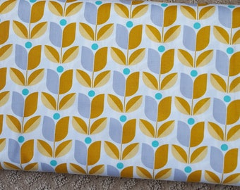 Sale!! Tulip Straw Mustard Yellow Fabric by Joel Dewberry True Colors Collection Fabric by the Yard