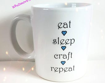 Crafters Mug - Mothers Day - Gift For Crafters - Birthday Gift Mug - Crafting  - Gift For Her - Gift For Him - Business Accessories - Teacup