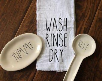 Wash Rinse Dry Tea Towel