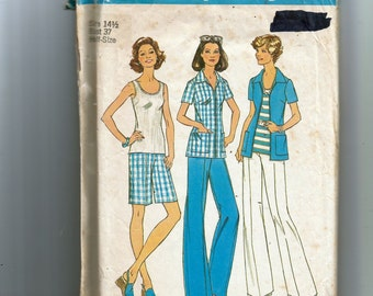 Simplicity Misses' Top, shirt, Jacket, Pants and Shorts In Half Sizes Pattern 6984