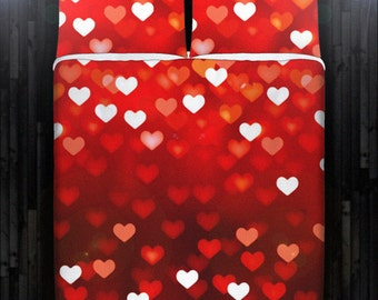 Love Heart Valentine Day Bedding Duvet Cover Queen Comforter King Twin XL Size Blanket Sheet Set Baby Crib Toddler Daybed Kids Bed