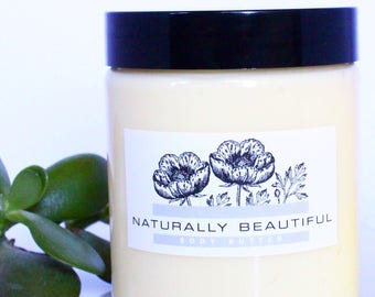 Silk + Mango Nourishing Body Butter - Natural Skin Care - Body Butter - Skincare - Lotion - Body Cream - Bath and Beauty