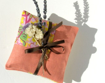 Linen lavender sachet - patchwork set