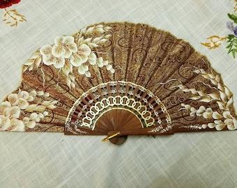 Fan, hand painted