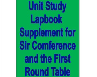 Lapbook study to supplement Sir Comference and the First Round Table Learning Math preGeometry