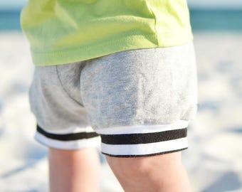 Baby shorts - Toddler shorts - kids shorts -shorties - grey shorts - grey shorties