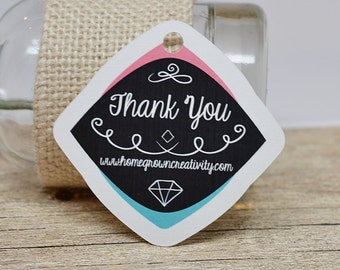 Modern Hipster Thank you Hang Tags Gift Party Favor