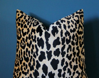 Leopard Velvet Pillow Cover - Leopard Pillow Cover - Jamil Velvet - Leopard Print Pillow - Animal Print Pillow - Animal Print Decor