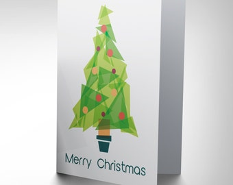 Geometric Christmas Tree / Polygon Design / Xmas Card - CP1938
