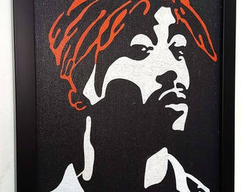 2 Pac Tupac Shakur All eyes on Me inspired-:- Framed Wall Art Giclee Canvas Paint,Painting, Poster,Print Black framed