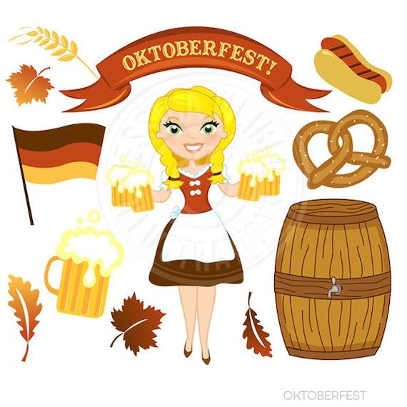 Oktoberfest Cute Digital Clipart Commercial Use OK