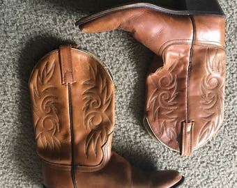 Tan western boots