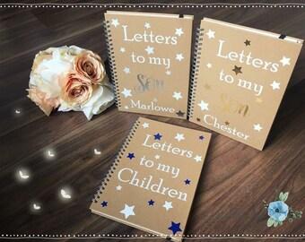 Lettres à mon fils fille enfants portable Design étoile